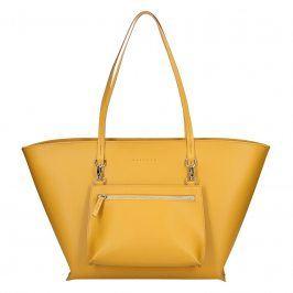 Dámská kožená kabelka Facebag 2v1 - žlutá